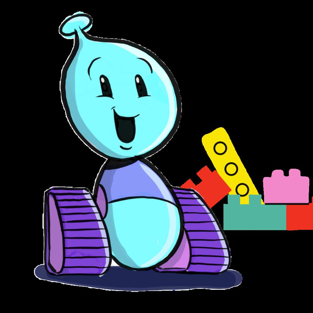 Photo of Bobo the Robot at preschool age.
