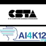 CSTA K-12 and AI4K12.org logos.
